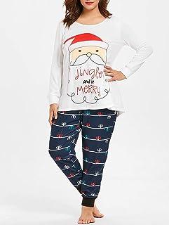 5cb07655b9b08 Tianzhiyi sous-vêtements Maison Ensemble De Pyjamas Père Noël pour Filles  Ensemble De Pyjamas De