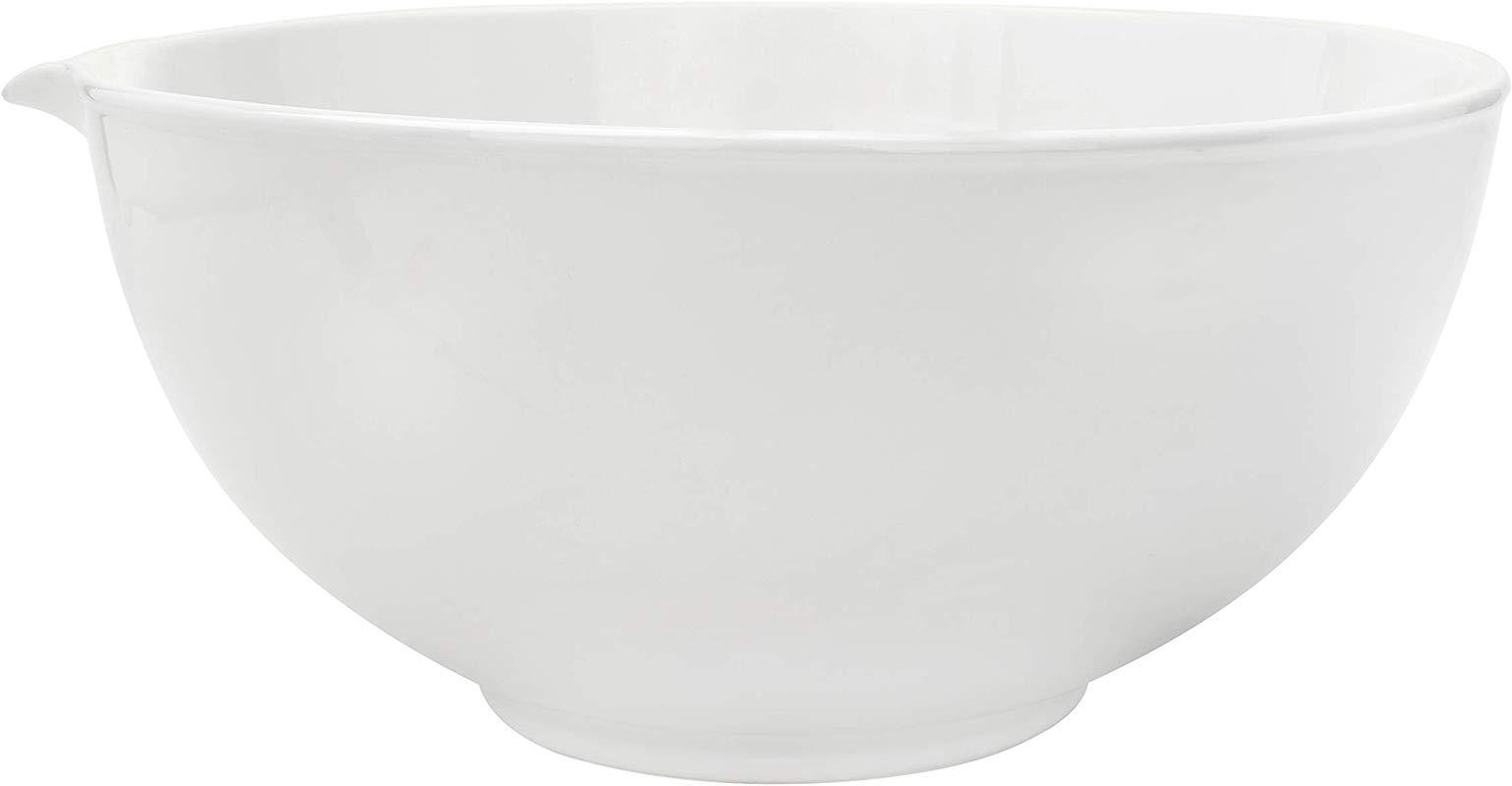 Creative Co Op Antique White Vintage Reproduction Stoneware Batter Bowl
