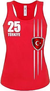 Love-All-My-Shirts Turquía Fan Camiseta–Tank Top de Mujer (Tallas S a XL