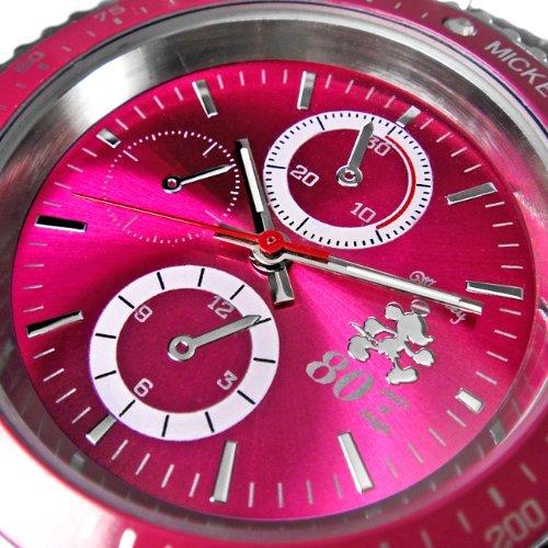 『Disney ディズニー ミッキー 生誕80周年記念 回転 ベゼル 腕時計 ピンク スワロフスキー 世界限定数生産 銀 [時計] [並行輸入品]』の4枚目の画像