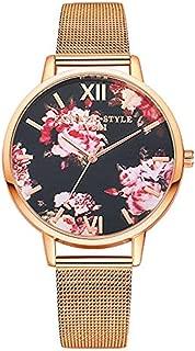 Triskye Womens Analog Quartz Watches Business Casual Classic Luxury Clock Stainless Steel Strap Band Round Wrist Watch Ladies Wristwatch Bracelet for Teen Girls