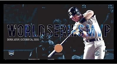 MLB New York Yankees Derek Jeter Moments: World Series MVP Collage Text Overlay Framed 9.5x19 7331 Style
