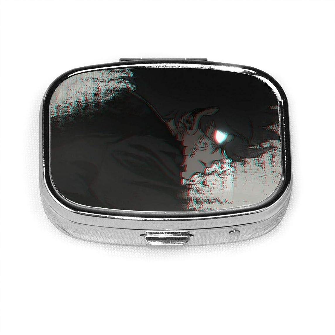 居間アーティファクトビジュアルモブ100サイコ100mob100 ピルケース 薬ケース 携帯用 なファッション 防水 コンパクト?軽量 習慣薬箱 薬入れ 小型収納ケース 飲み忘れ防止