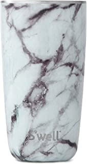 S'well 10418-B17-00910 Stainless Steel Tumbler, 18oz, White Marble
