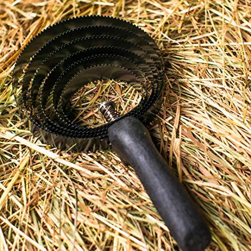 Pestillo de 6 capas para caballos, barra de metal con mango de madera para limpiar la suciedad gruesa, barra en espiral ideal para cambiar el pelo, depilación (barra de resorte)