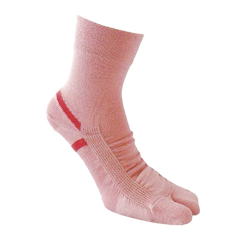ターゲットデコレーション高齢者bonbone つま先サポートソックス 女性用  ピンク 22-25cm