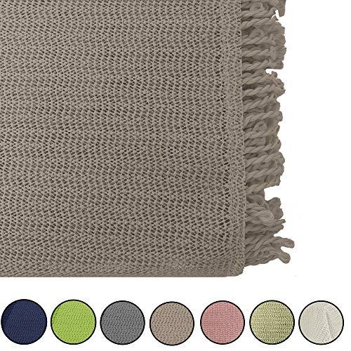 JEMIDI tuintafelkleed weerbestendig tafelkleed rond of vierkant tafelkleed tuintafel weerbestendig Rund Durchmesser 140cm cappuccino