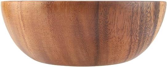 Fdit Cuenco de Madera del Acacia Sólido para el Cuenco de Madera Hecho a Mano del Arroz de la Sopa de la Ensalada para los Utensilios de la Cocina(20 * 7cm)