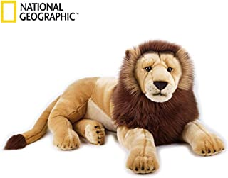 NATIONAL GEOGRAPHIC Giant Lion Lelly Plush, Tan/White