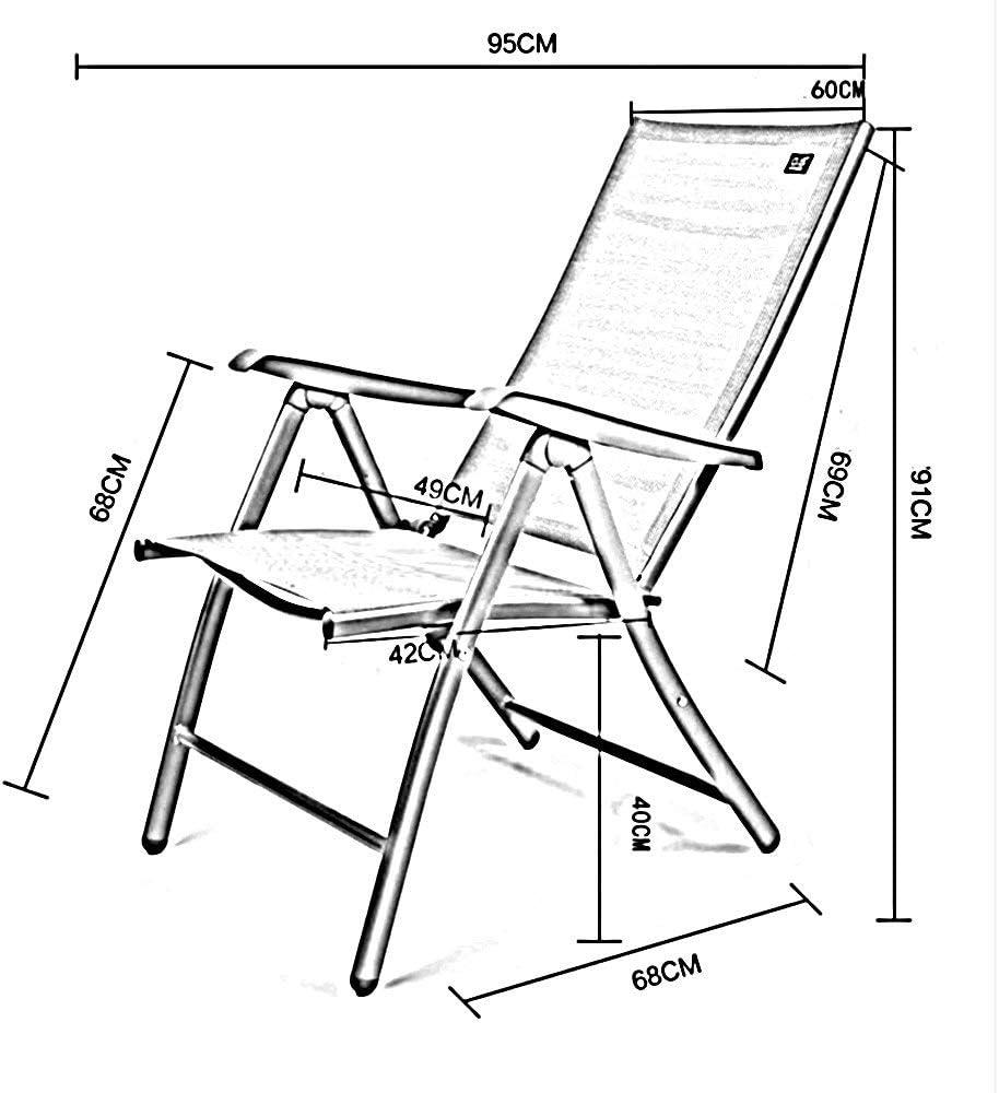 YLCJ Fauteuil inclinable réglable Toute Saison pour Chaise Zero Gravity avec Coussin Amovible Repliable (Couleur: 1010) 1005