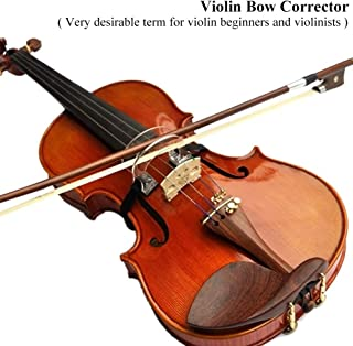2pcs Violin Bow Straighten Collimator Guide Tool - Violin Bow 1/2 - 4/4  Violins Collimator Adjuster Corrector for Beginner Training Exercise (1/2-4/4 Violins)