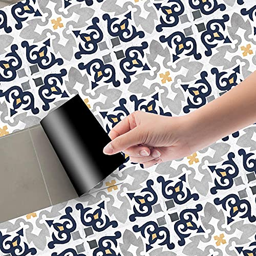Azulejos Adhesivos Mostaza Gris PerlaVinilosCocinaAzulejosAntisalpicadurasVinilosBañoAzulejosImpermeableVinilosdeparedDecorativosPinturaparaAzulejosAdhesivodePared 20x100cm/3pcs