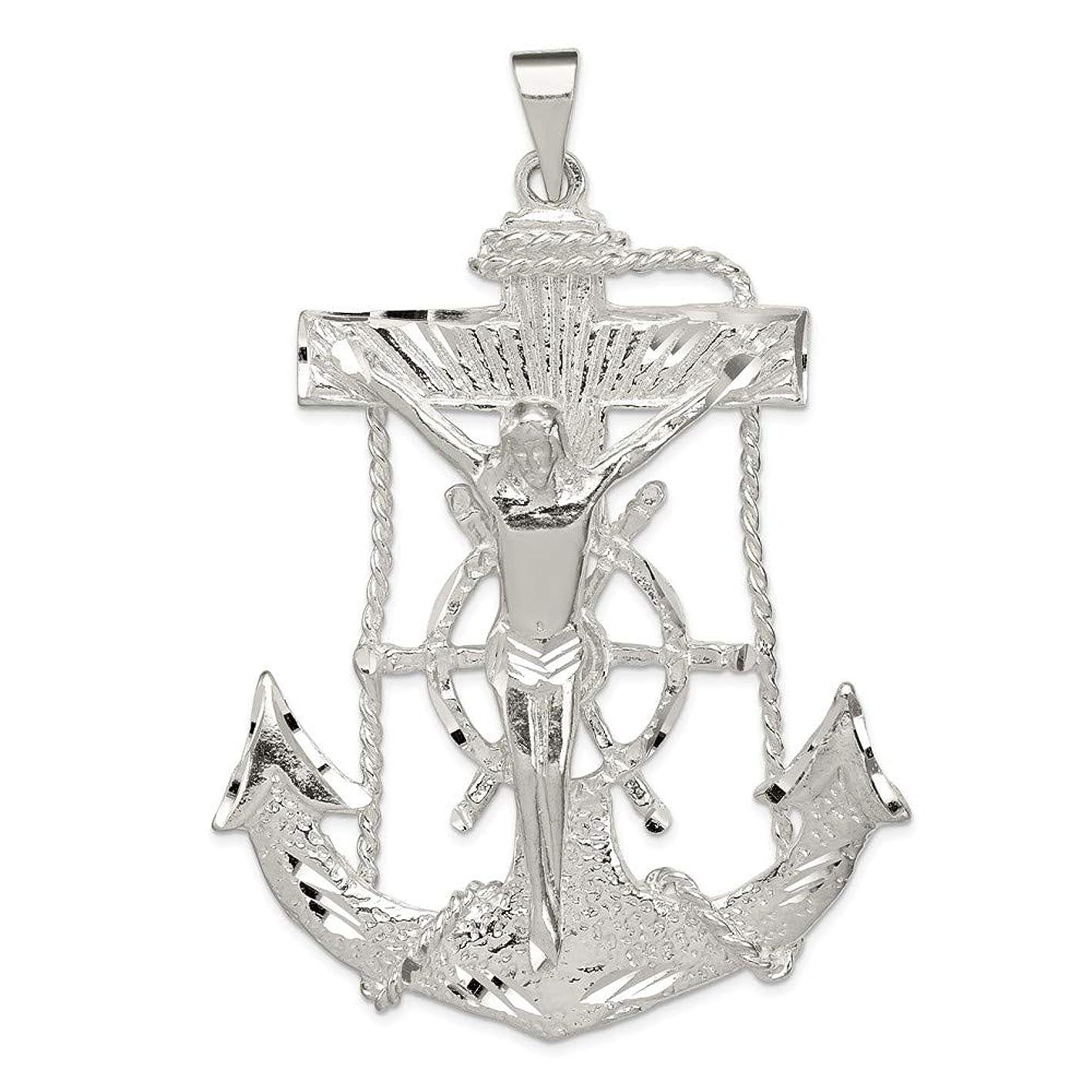 Mia Diamonds 925 Sterling Silver Solid Mariner Cross Pendant (79mm x 55mm) kttvfshsusy100