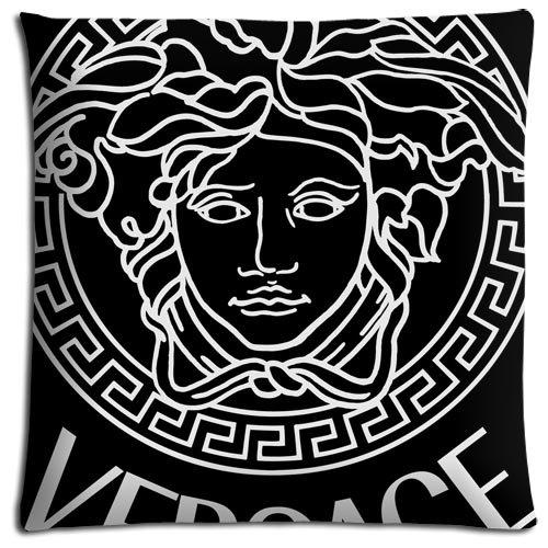 Bequemer Kissenbezug, Versace-Stil, aus Polyester, mit Reißverschluss, umweltfreundlich, 40 x 40 cm