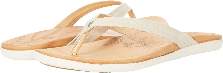 OluKai Honu Women's Beach Sandals, Quick-Dry Flip-Flop Slides, Water Resistant Suede Lining & Wet Grip Soles, Soft Comfort Fit & Arch Support