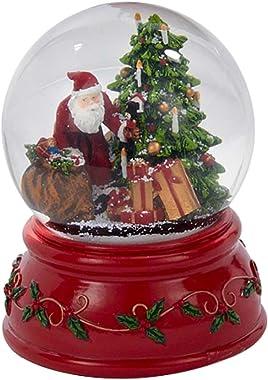 Kurt Adler Nutcracker Toys Santa Claus 100MM Resin Christmas Water Snow Globe Plays Holiday Song