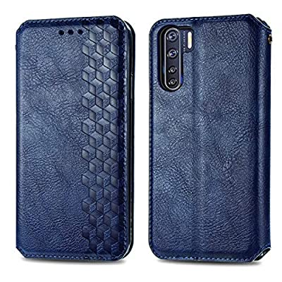 Leather Wallet Case for OPPO F15 / A91 PU Leather Magnetic Flip Cover with Card Slots Holders Bookstyle Wallet Case for OPPO F15 / A91 - JESD080573 Blue