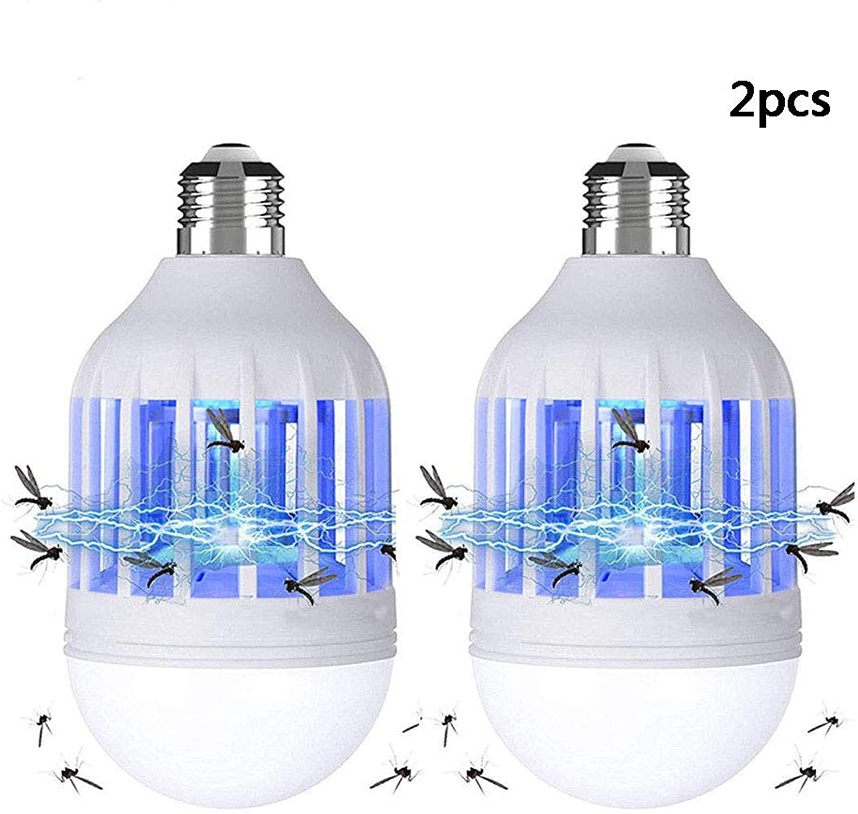 Bug Zapper 2 in 1 Mosquito Killer Light Bulbs E27 Electric Mosquito Fly Killer 15W 220V Cold White Mosquito UV Lamp for Home Kitchen Garden Garage Patio Porch,220V