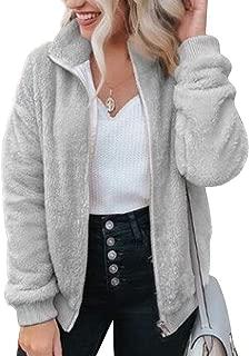 Women's Full Zip Jacket Soft Fleece Sherpa Winter Outwear...