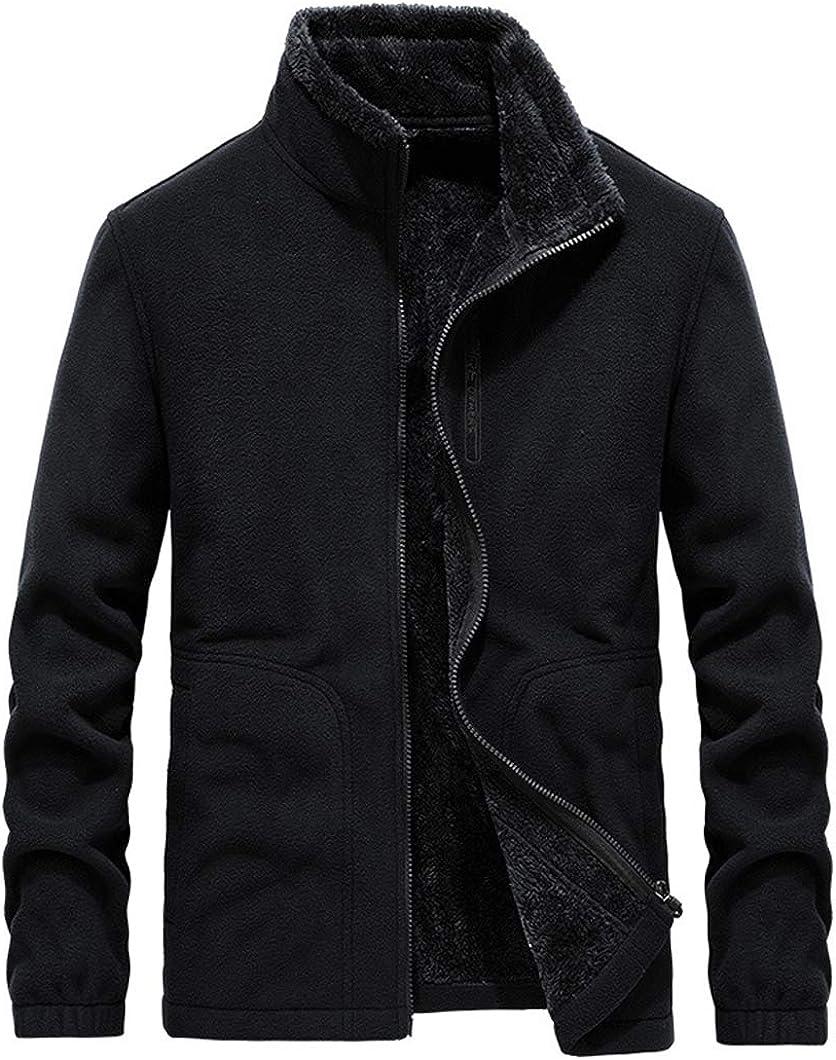 Duyang Men's Winter Outdoor Full Zip Thermal Fleece Jacket Outerwear Coat