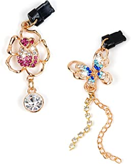 Mavis's Diary 2 Pcs Cute Bling Diamond Dust Plugs/Cell Charms for iPhone 7 Plus,iPhone 6S Plus,iPhone SE 5.5