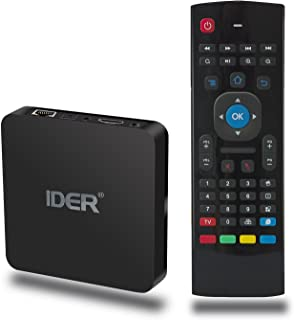 Android 6.0 TV Box with Air Mouse Remote, IDER S21 Amlogic S905x Quad Core Smart Box Supports 4K/3D/H.265/Bluetooth