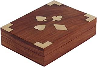 Benzara BM123960 Handcrafted Wooden Jewelry/Keepsake Box with Brass Inlay, Brown
