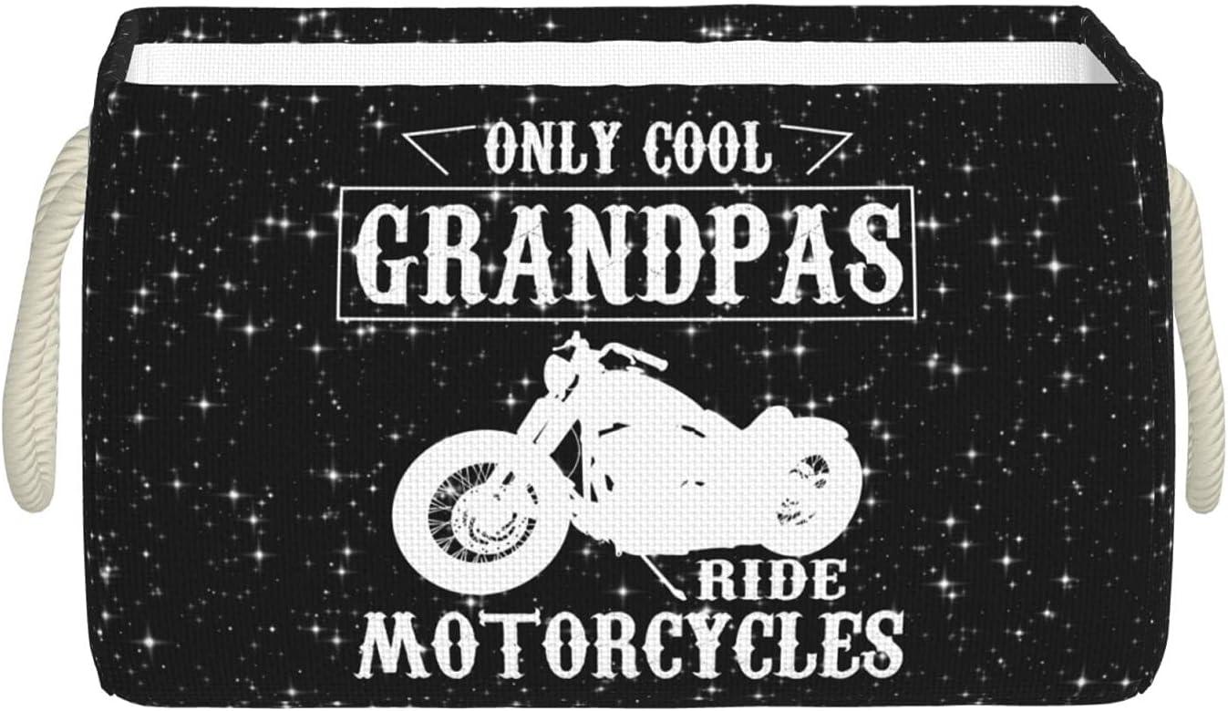 Ramanlas Cool Very popular Grandpas Ride Motorcycles with Handle Soldering Storage Bins