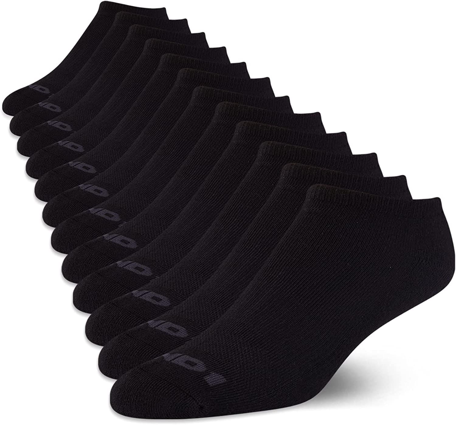 AND1 Men's Athletic Arch Compression Cushion Comfort Low Cut Socks (12 Pack)
