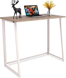4NM Folding Desk, No-Assembly Small Computer Desk Home Office Desk Foldable Table Study Writing Desk Workstation for Small Space Offices