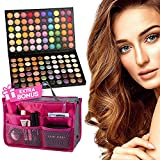 Alayna Eyeshadow Palette Makeup for Eyes 120 Colors Matte Shimmer Metallic Shadow Pallet for Professional or Personal Use + Gift Free Complimentary Cosmetic Bag Organizer Great for Every Woman & Girl