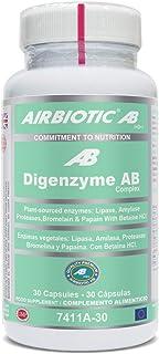 Airbiotic AB - Digenzyme AB Complex - 30 Capsulas - Ayudas Digestivas Para Indigestion. Intolerancias