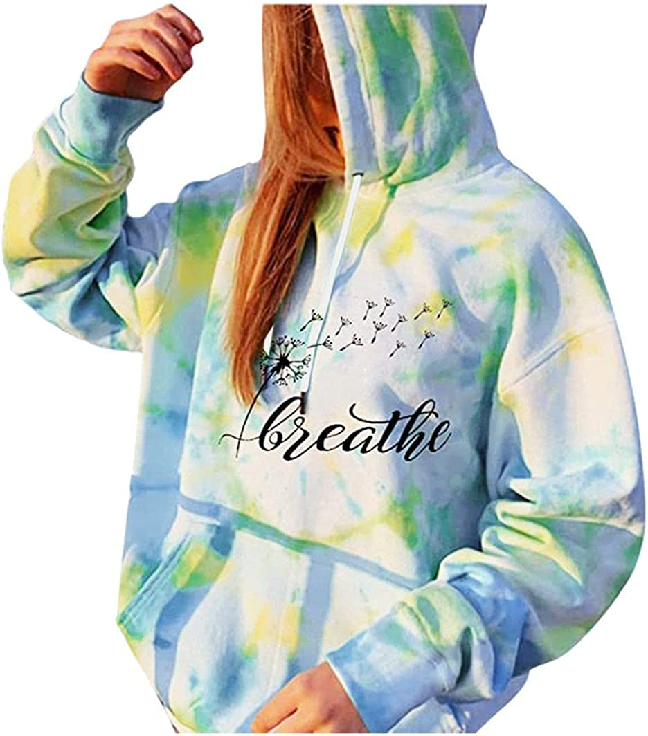 Jaqqra Oversize Sweatshirts for Women Crewneck, Women's Casual Long Sleeve Hooded Pullover Tops Shirts Blouse Girls