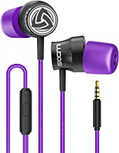 Wired-Earbuds-Earphones-Headphones-Microphone, LUDOS Turbo Ergonomic Earphone with Mic, Memory Foam, Durable Cable, Bass, ...