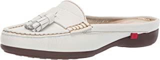 Marc Joseph New York Womens Genuine Leather Pearl Street Mule, white grainy 9 M US