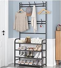 MU Stojak na buty stojak na buty ławka na buty 3 w 1 korytarz drzewo wejście metal przechowywanie butów organizer półka do...