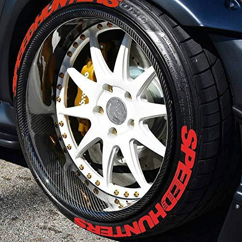 PS SPEEDHUNTERS ROT Reifenbeschriftung Reifen Aufkleber 4er Set Gummi Tire Tyre Sticker Set passend auf 14
