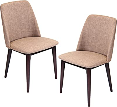 67f1411336e6 Amazon.com - Barett Dining Chairs Grey and Chesnut (Set of 2) - Chairs