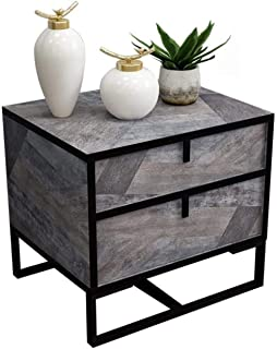 File cabinets Nightstand Bedside table Dressing Table Forged Iron Bedroom Cabinet Storage Drawer Side Wood-based Panel Sid...