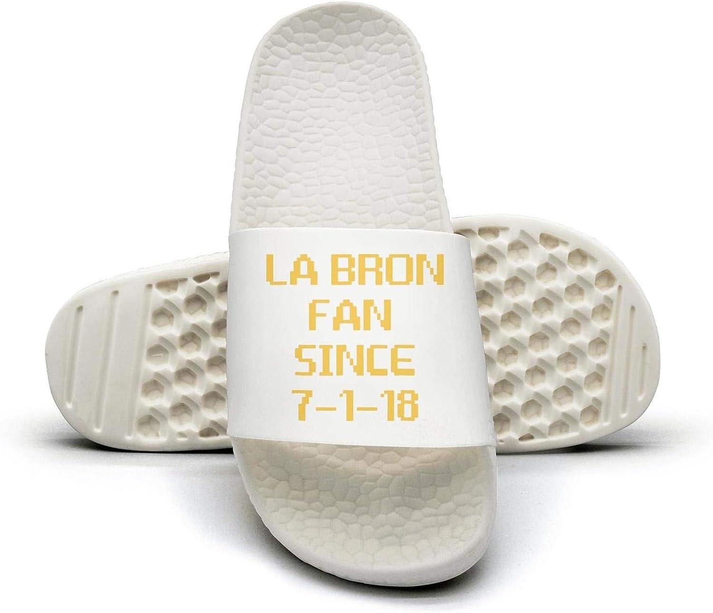 ADIDII Womens Printed Non-Slip Slipper Slides flip Flop Sandals LABRON_Fan Since 7-7-18 Basketball Summer Indoors