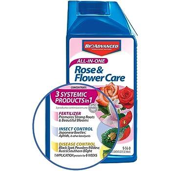BioAdvanced 701260B 32Oz All in 1 Rose Care, 32 oz, Yellow