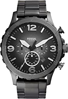 Fossil Mens Quartz Watch, Analog Display and Stainless Steel Strap JR1437