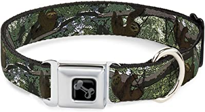 Buckle-Down Dog Collar Seatbelt Buckle South Carolina Flag Distressed Black Available in Adjustable Sizes for Small Medium Large Dogs