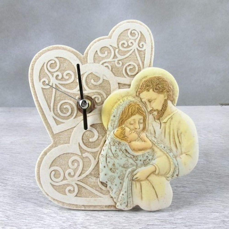 3 PZ orologio resina con SACRA FAMIGLIA in scatola regalo fatto IN ITALY