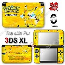 Pokemon 20th Anniversary Pokémon Pikachu Yellow ed Skin Sticker Cover for Original Nintendo 3DS XL