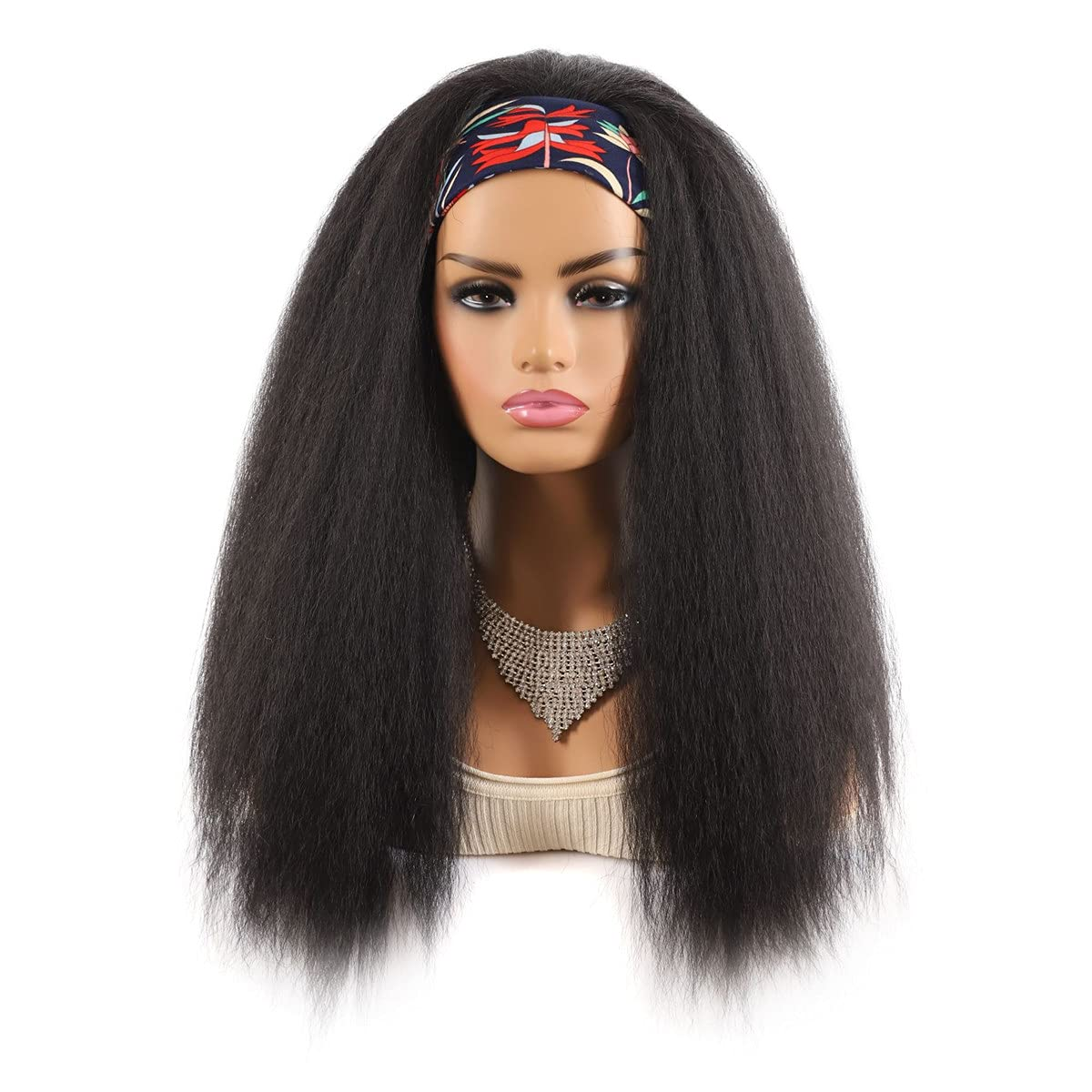 New products Max 48% OFF world's highest quality popular Headband Wigs for Black M Machine Full Women