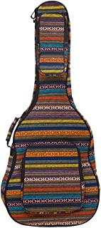 Glenmi 40 41 Inch Acoustic Guitar Case Gig Bag With 3D Pockets,Neck Protector Pillow Pad,Bohemian Style,10mm Sponge Padded