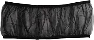 Seed Catcher, Ventilated Nylon Large Size Bird Cage Cover, for for Parakeets(Black)
