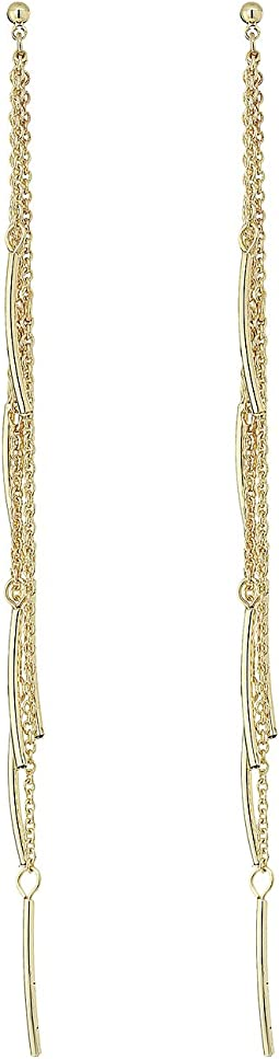 French Connection - Delicate Linear Fringe Earrings