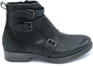 Mjus Homme 300205 Bottes en cuir et croûte avec boucles et fermeture éclair – Taille chaussure